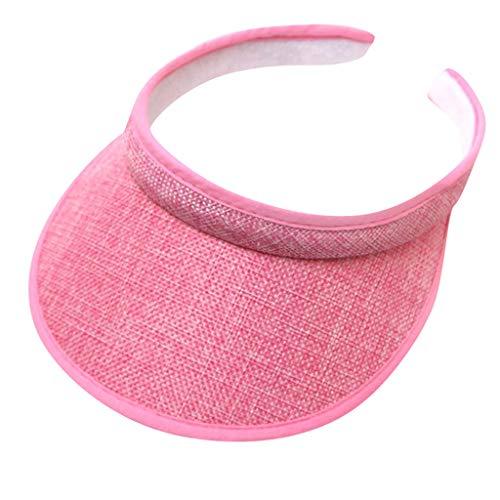 FEDULK Sun Hats for Women Men Wide Brim UV Protection Sun Hat Caps Floppy Beach Packable Visor Hars(Pink)