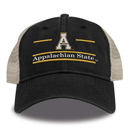 The Game NCAA Appalachian State Mountaineers Split Bar Design Trucker Mesh Hat, Black, Adjustable