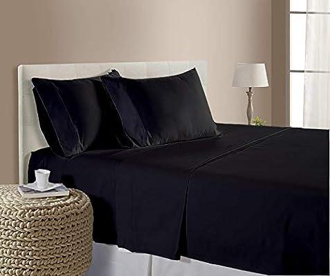 SHEETEX - Juego de sábanas de 4 Piezas, 100% algodón Egipcio de ...