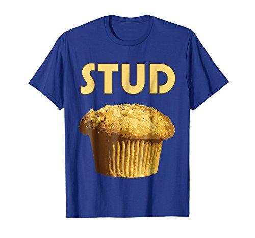 Stud Muffin Tee - Mens Stud Muffin T-Shirt Small Royal Blue