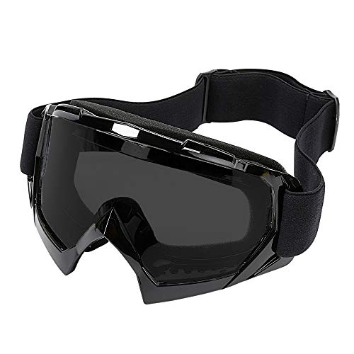 (LJDJ Motorcycle Goggles -Dirt Bike ATV Motocross Eyewear Anti-UV Adjustable MX Riding Offroad Protective Glasses Racing Combat Tactical Military Goggles for Men Women Youth Adult)