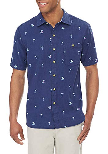 Tommy Bahama Mix Master S/S Button up Ocean Deep Mens XXL (Tommy Bahama Lyocell Shirts)