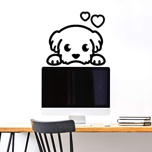 Vinyl Wall Art Decal - Puppy Face - 20