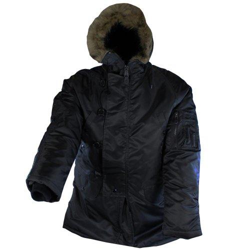 veste Polar, N3B, noir, doublure, Taille:XL