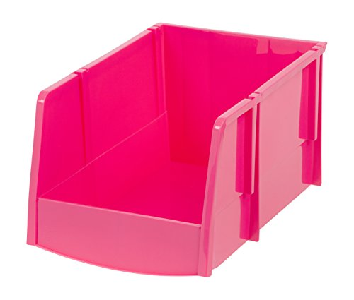 Jumbo Stacking Bin (IRIS Jumbo Storage Bin, Pink, 6 Pack)