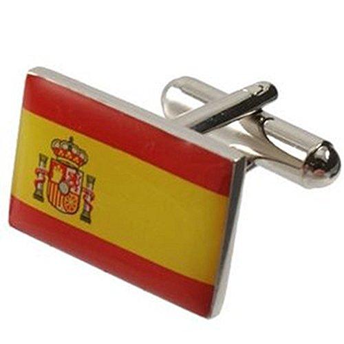 Boutons de manchette drapeau espagne Drapeau espagnol~fort personnalisé gravé