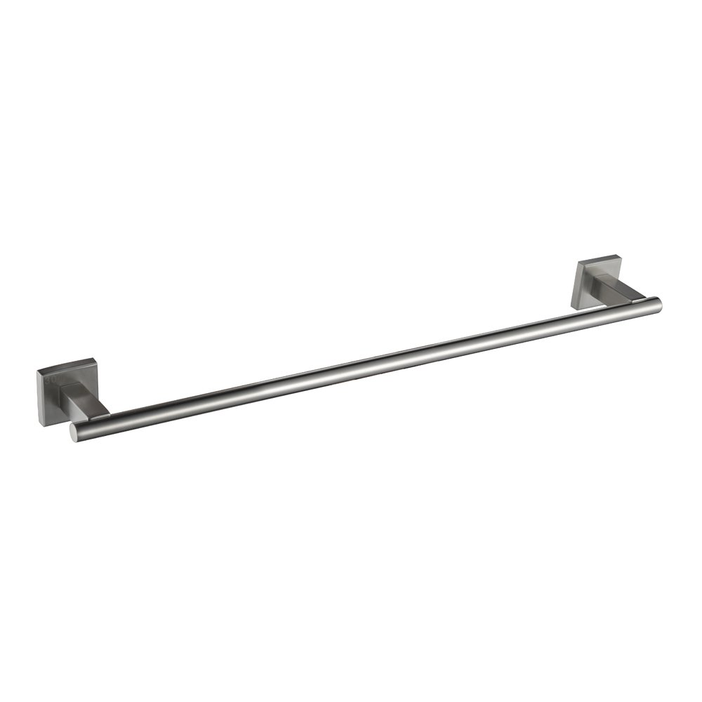 Angle Simple GB7904 Bathroom Towel Bar Stainless Steel, Brushed Steel by Angle Simple B00KZNMK96