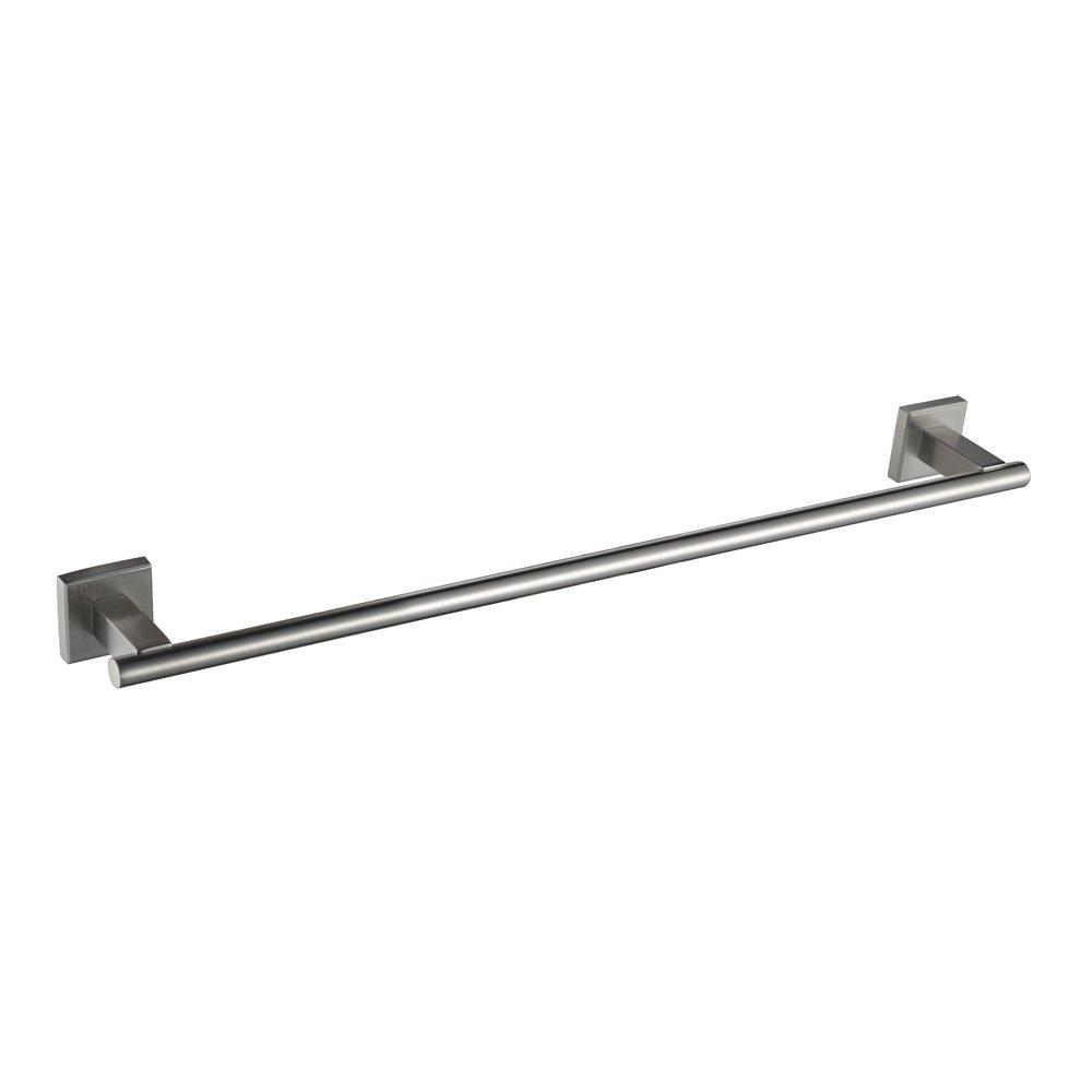 Bathroom Towel Bar, Angle Simple SUS304 Stainless Steel Shower Towel Holder Hand Face Bath Towel Rack Holder Bar Single Towel Hanger Rod Kitchen Cabinet Washcloth Holder Wall Mount, Brushed Nickel