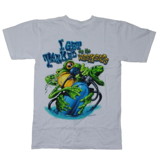 Amphibious Outfitters Get Tanked Scuba Dive Tee Shirt Large White