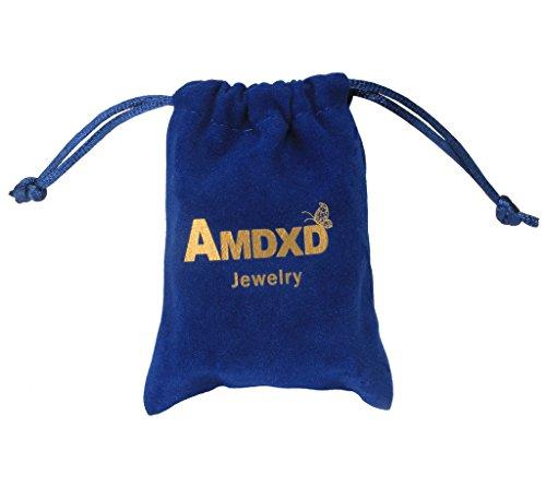 AMDXD Bijoux Plaqué Or Femme Boucles D'oreilles Or Rose Rond Cubic Zirconia ArcNœud Forme 1.1*1.3cm