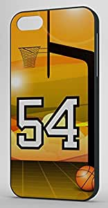 Basketball Sports Fan Player Number 54 Black Plastic Decorative iPhone 4/4s Case