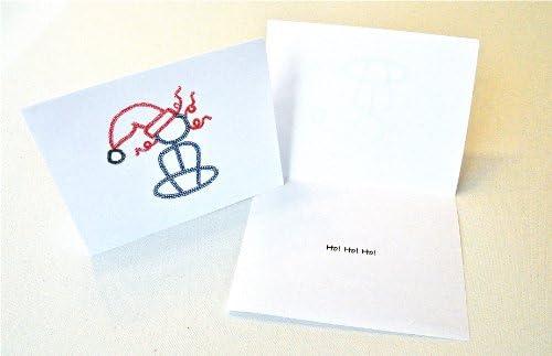Amazon.com: Yoga Christmas Girl Note Cards: Health ...