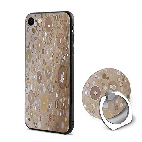 Circles Multi Coloured - Tan iPhone 6/iPhone 6s Cases,Soft Colored Circles and Dots in Different Sizes Bubble Shapes Artistry Tan Pale Purple Cream,Mobile Phone Shell Ring Bracket
