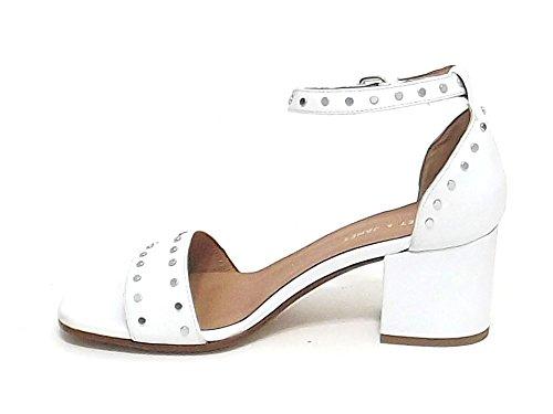 Janet Damen Sandalen Weiß Bianco