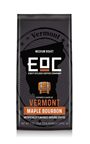 Eight O'Clock Coffee Flavors of America, Vermont Maple Bourbon, 11 Ounce