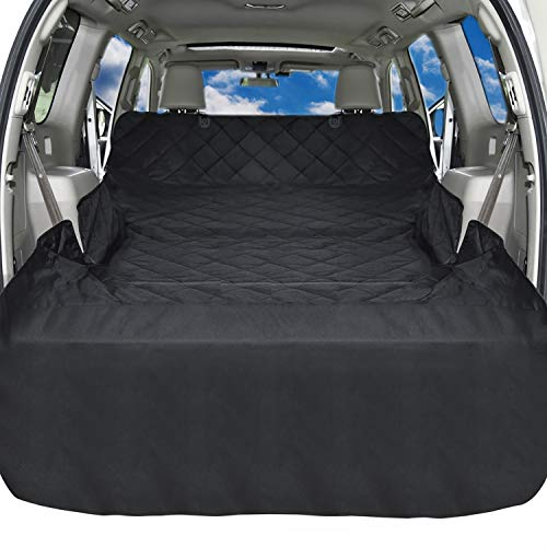 iSPECLE SUV Cargo Liner for Dogs, Non Slip Pet Car Seat Cover with Anchors for Stable Fit - Waterproof Cargo Liner Cover for SUVs and Cars Universal Fit for All ()