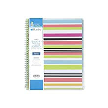 """Blue Sky 2018-2019 Academic Year Teachers Weekly & Monthly Lesson Planner, Flexible Cover, Twin-Wire Binding, 8.5"""" x 11"""", Stripes Design"""