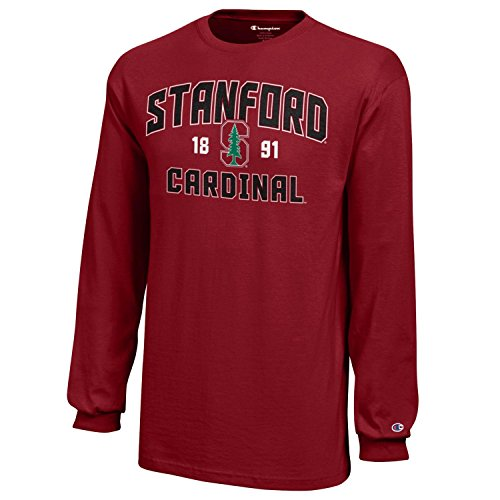 NCAA Champion Boy's Long Sleeve Jersey T-Shirt Stanford Cardinal Large