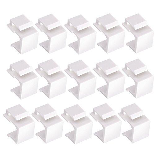 Maxmoral 15-Pack Blank Keystone Jack Inserts - Blank Insert Module for Keystone Wall ()