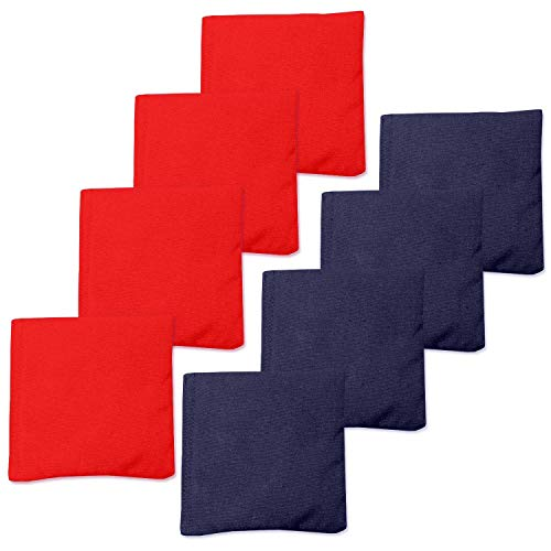 Play Platoon Weather Resistant Cornhole Bean Bags Set of 8 - Red & Navy Blue