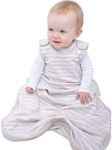 Woolino Merino Wool Baby Sleeping Bag - 4 Season, 2Mo - 2Yrs,Dream (Lilac Gray)