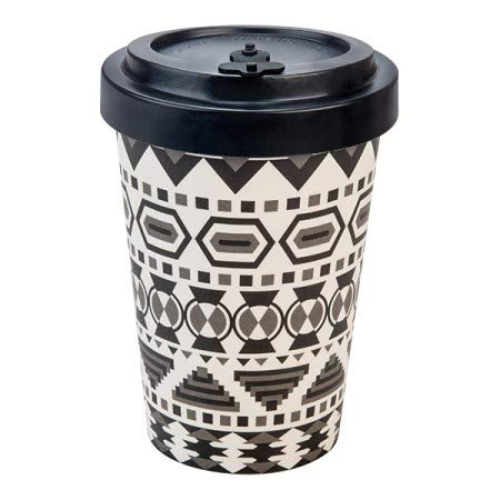 WoodWay Bamboo Fibres - To Go Coffee Cup (Aztec White Black)