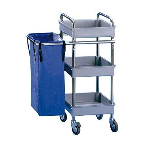 Jofel AL50350 Metallic Maid Trolley, 3 Small Trays and 1 Bag 3Small Trays and 1Bag