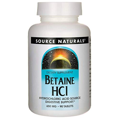 Betaine HCL 650mg Source Naturals, Inc. 90 Tabs