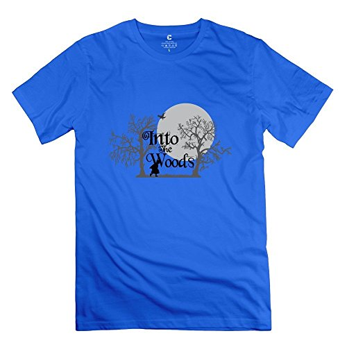 Into The Woods Very Roundneck RoyalBlue Shirts For Adult Size L