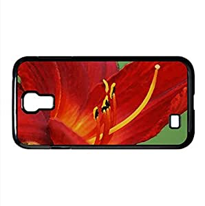 lintao diy Day Lily Watercolor style Cover Samsung Galaxy S4 I9500 Case (Flowers Watercolor style Cover Samsung Galaxy S4 I9500 Case)