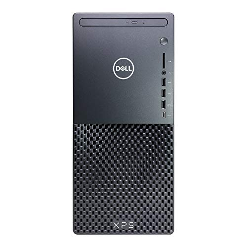 Dell_XPS 8940 Tower Desktop Computer - 10th Gen Intel Core i7-10700 8-Core up to 4.80 GHz CPU, 64GB DDR4 RAM, 1TB SSD + 3TB Hard Drive, GeForce GTX 1650 Graphics, DVD Burner, Windows 10 Pro, Black