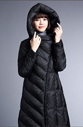 FARCOKO 2017 Winter Women's Down Jacket Slim Hooded Down Jackets Thickening Warm Woman Down Coat (Black, XL) by FARCOKO (Image #4)