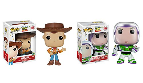 Funko POP Disney Toy Story 20th Anniversary Edition Buzz Lightyear and Woody 2 Pack Bundle