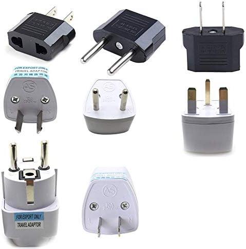 sahnah Multi-Standard Adapter Plug Round Flat Power Plug Multi-Country Power Plug