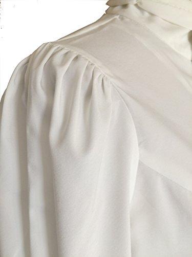 Steampunk, in stile vittoriano, colore: bianco, con coperchio in stile gotico con pirata uomo nera Blouse Top