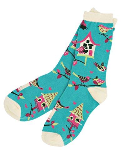 Bird Houses Womens Crew Socks
