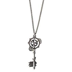 Alchemy Gothic Unisex Adult's Septagramic Coercion Gearwheel Key Necklace