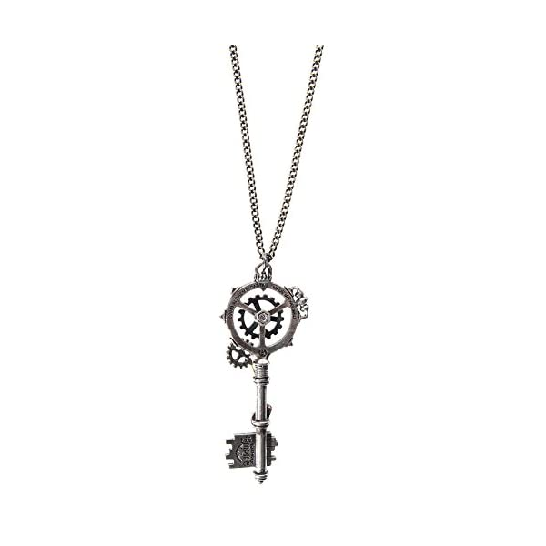 Alchemy Gothic Unisex Adult's Septagramic Coercion Gearwheel Key Necklace 4