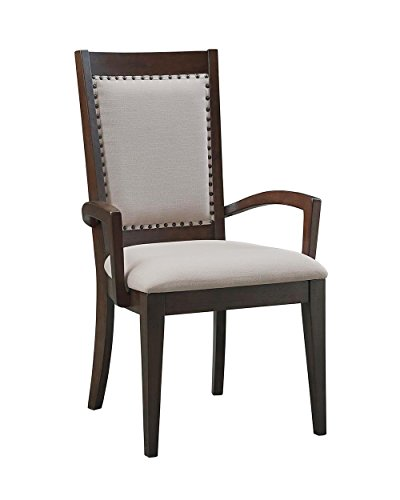 Food & Wine Estate Collection Arm Chair (Set of 2), Dark Chocolate/Walnut