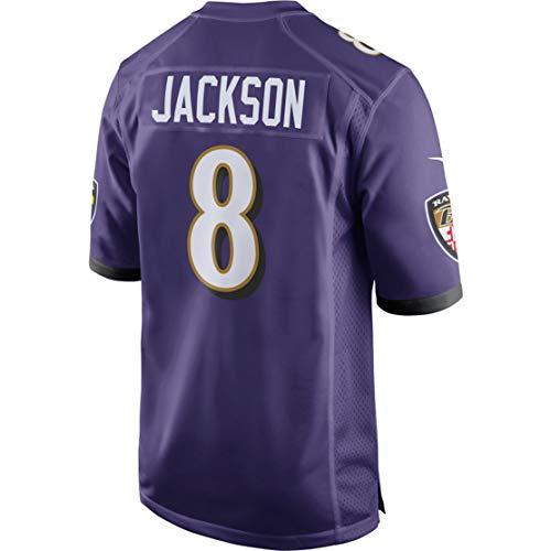 Intuit Fast Mens Lamar_Jackson_8_Purple Fans Replica Jersey Sportswear Custom Football Game Limited Elite Legend Jerseys