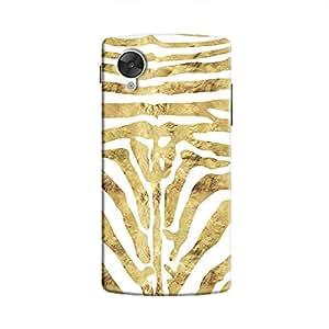 Cover It Up - Brown Zebra White Nexus 5 Hard Case