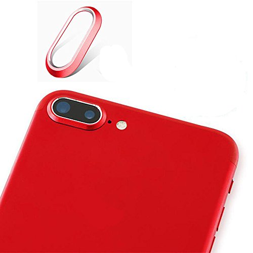 Outstanding Red Rear Camera Metal Lens Circle Protector Ring for iPhone 7 Plus