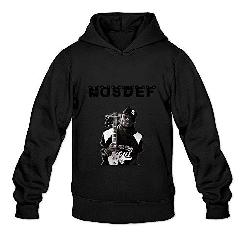 Buluew Men's Cartoon Mos Def Hoodies Sweatshirt Size M US Black
