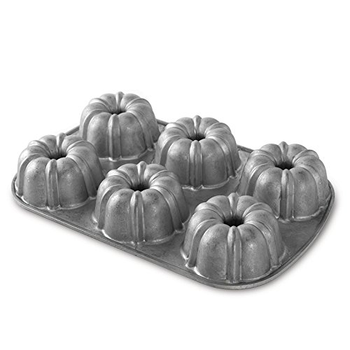 Nordic Ware 50601FSAMZ Bundt Muffin Pan with Premium Non Stick Coating, 6 Cavity (Pack of 6)