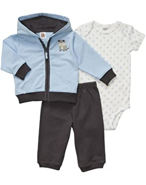 Carter's Baby Boy's Cotton French Terry 3 Pc Cardi...