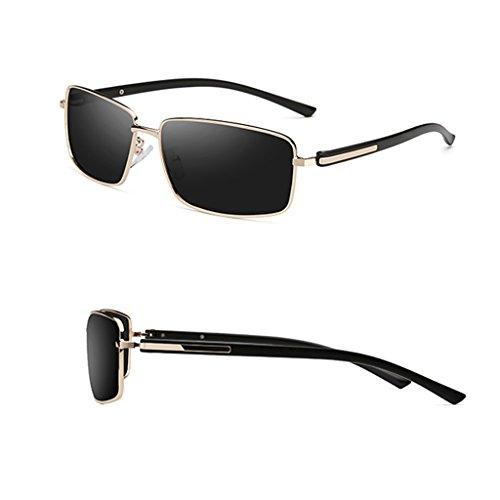 Hombres Protección Color Para Marco UV400 Polarizadas UV Bloqueo Oro Reflejos De Ligera Disponible Lentes Sol Ultra Oro 4 Colores Gafas HAIYING Metálico Sin En 1OWP44
