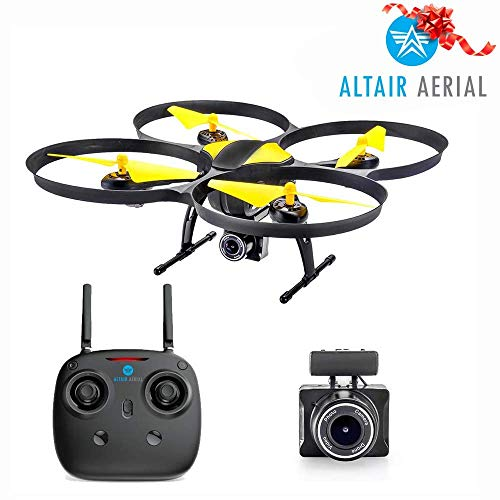 ($30 Off Now!) Altair 818 Hornet Beginner Drone with Camera, Live Video Drone for Kids & Adults w FPV, 15 Min Flight Time, Altitude Hold, Personal Hobby Starter RC Quadcopter for All Ages & Levels.