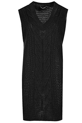 Kleid schwarz grobe 44