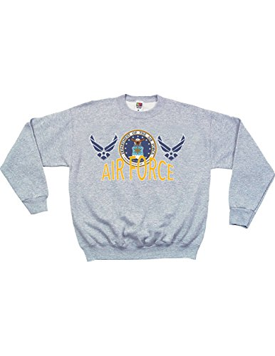 Fox Outdoor US Air Force Military Long Sleeve Crewneck Logo Seal Sweatshirt