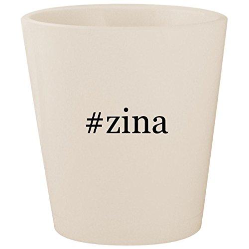 #zina - White Hashtag Ceramic 1.5oz Shot Glass ()